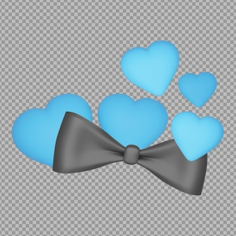 3d-stropdas met vaders dag concept rendering isolated