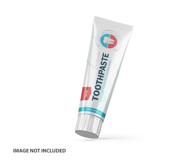 3d tandpasta plastic tube psd mockup