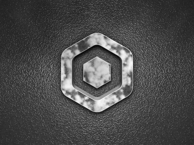 3d tegels effect logo mockup premium psd