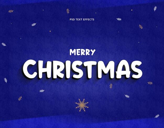 3d tekst effecten psd sjabloon vrolijk kerststijl