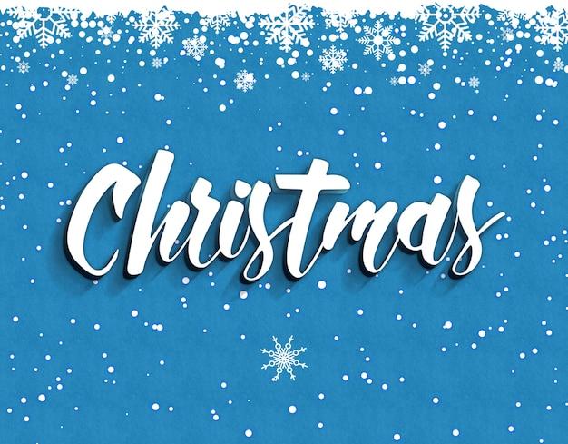 3d-teksteffecten kerstsjabloon stijl