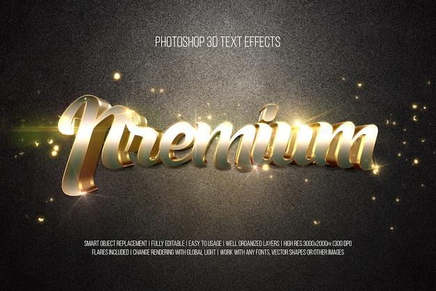3d-teksteffecten - premium
