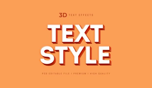 3d-tekststijleffect mockup