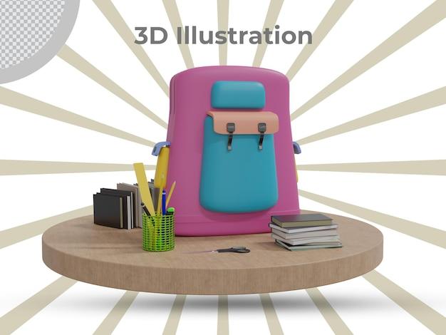 3d teruggegeven lerarendag 3d illustratieontwerp