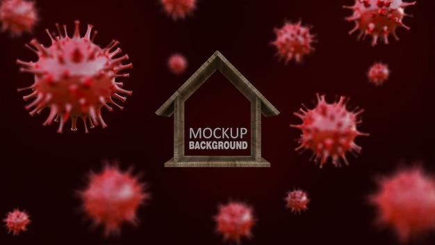 3d teruggevend beeld van blokhuismodel Premium Psd