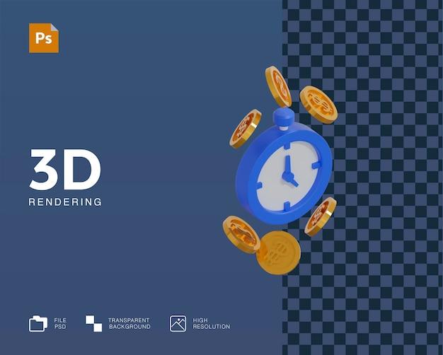 3d tijd is geld illustratie