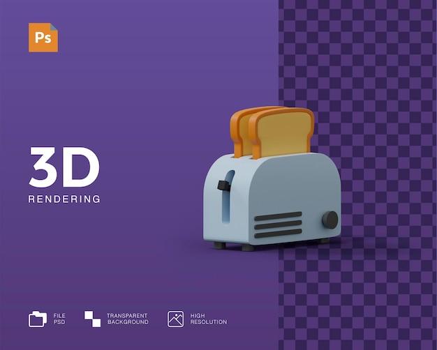 3d toast broodmachine illustratie