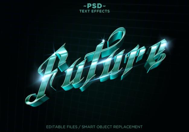 3d toekomstige stijl effecten bewerkbare tekst Premium Psd