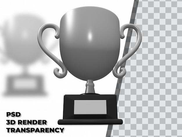 3d-trofee met transparantie render-modellering premium psd
