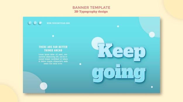 3d-typografie ontwerp banner