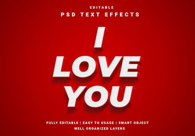 3d valentijn tekst effect