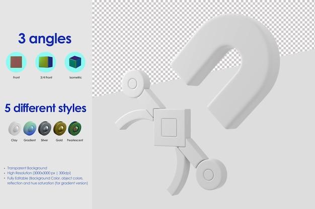 3d-vector snap pictogram