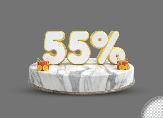 3d-verkoop realistische promotie- en kortingsbanner