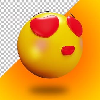 3d verliefd emoji gezicht