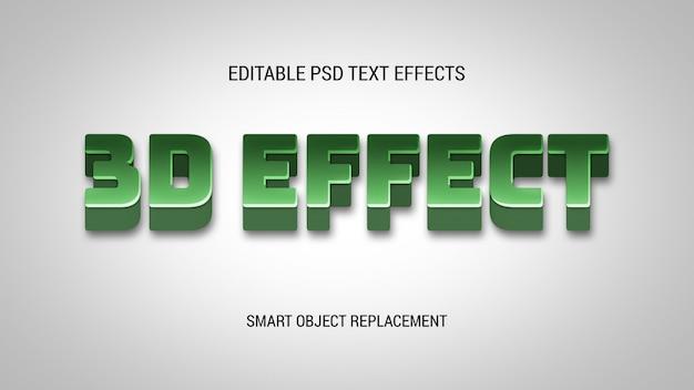 3d vet bewerkbare teksteffecten
