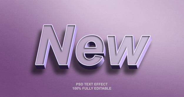 3d vetgedrukte nieuwe teksteffectsjabloon