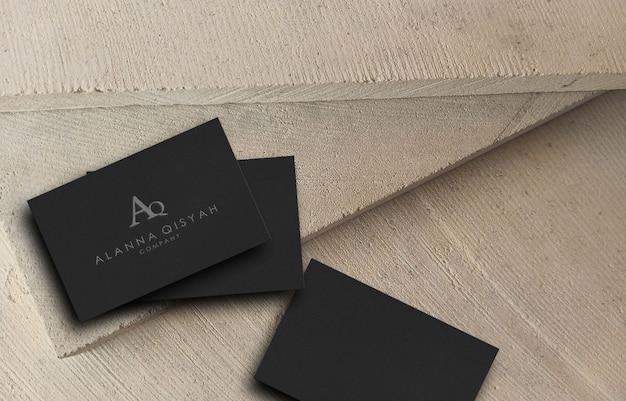 3d visitekaartje logo mockup voor bedrijf