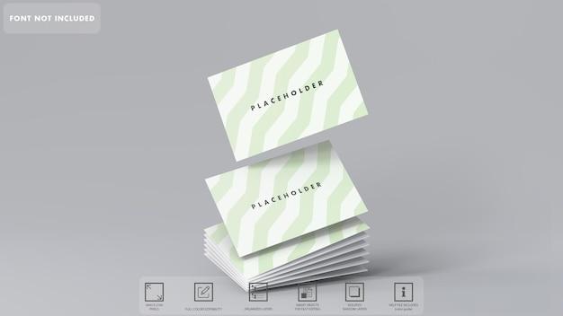 3d visitekaartje scherpe hoek mockup rendering geïsoleerd