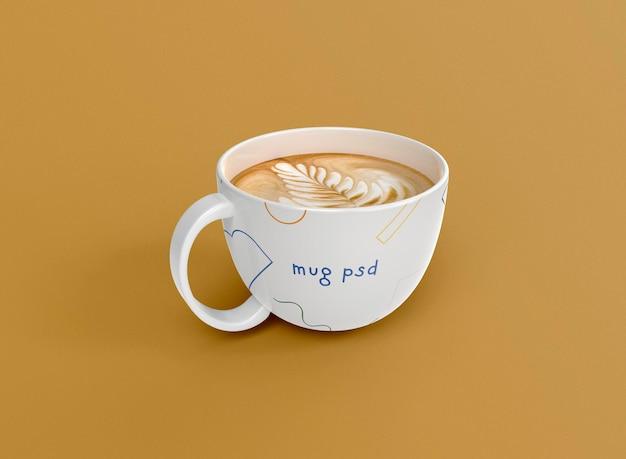3d vista frontal de la taza de café