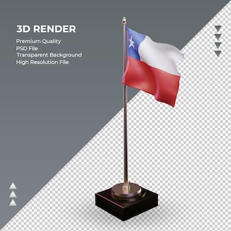 3d-vlag chili die de juiste weergave weergeeft