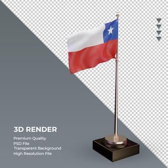3d-vlag chili weergave linkeraanzicht