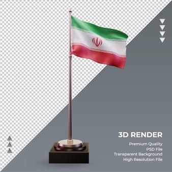 3d-vlag iran rendering vooraanzicht