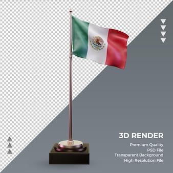 3d-vlag mexico die de juiste weergave weergeeft