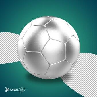 3d voetbal geeft geïsoleerd geïsoleerd terug