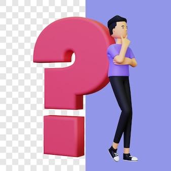 3d vraag illustratie concept