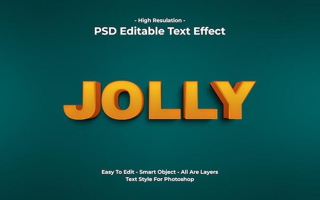 3d vrolijk teksteffect