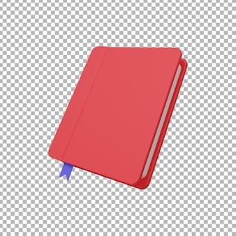 3d-weergave van boekillustratie
