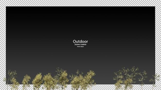 3d-weergave van boomtoppen