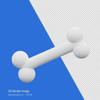 3d-weergave van bot pictogram geïsoleerd op wit.