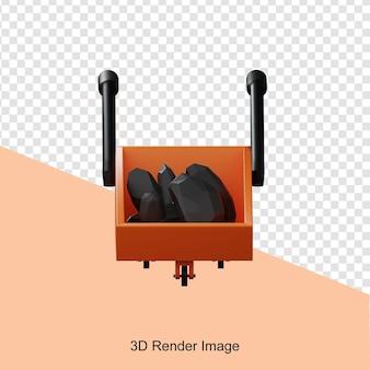 3d-weergave van bouwkar