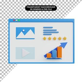 3d-weergave van data-analyse