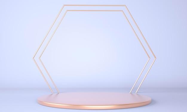 3d-weergave van geometrische vormen weergeven Premium Psd