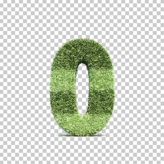 3d-weergave van gras speelveld nummer 0