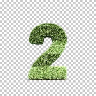 3d-weergave van gras speelveld nummer 2
