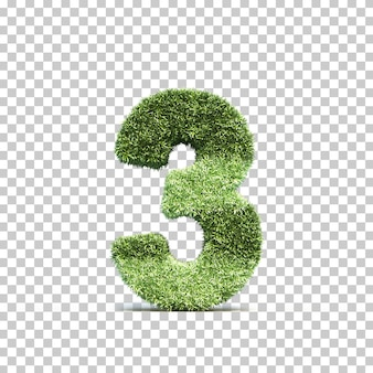 3d-weergave van gras speelveld nummer 3