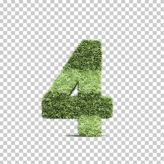 3d-weergave van gras speelveld nummer 4