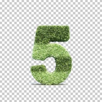 3d-weergave van gras speelveld nummer 5
