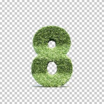 3d-weergave van gras speelveld nummer 8