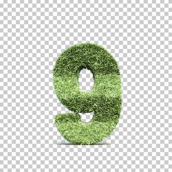 3d-weergave van gras speelveld nummer 9