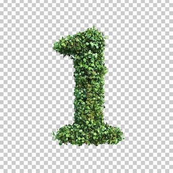 3d-weergave van groene planten nummer 1