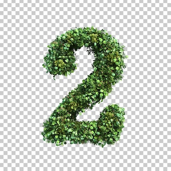 3d-weergave van groene planten nummer 2
