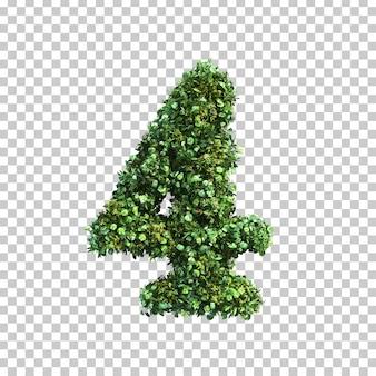 3d-weergave van groene planten nummer 4