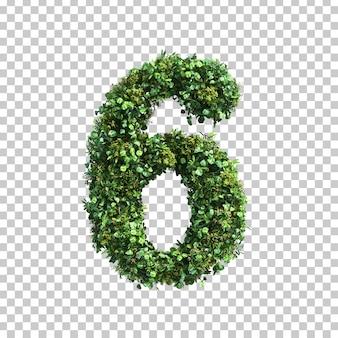 3d-weergave van groene planten nummer 6