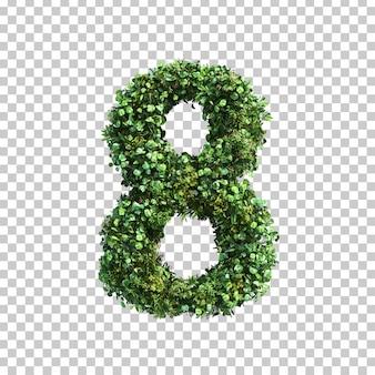 3d-weergave van groene planten nummer 8