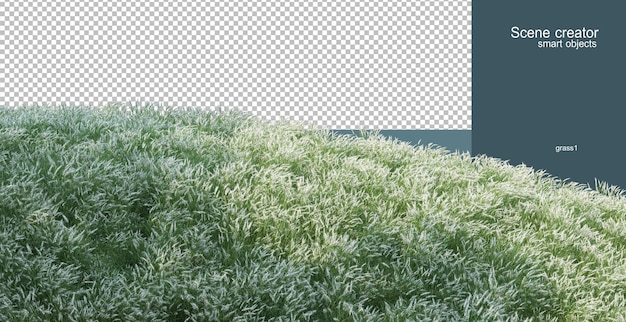 3d-weergave van het bloemveld-arrangement