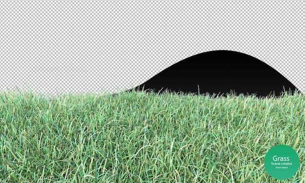 3d-weergave van het grasveld